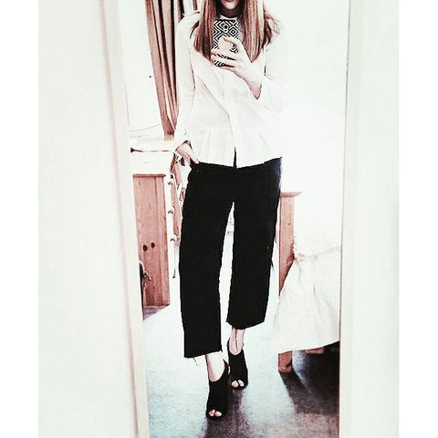 Our Magda shirt styled by Lauren from Fashion Panic UK! #fashionblogger #shirt #fashion #naaiantwerp