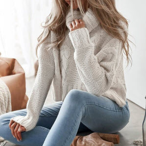 Long Sleeve Turtleneck Crop Sweater