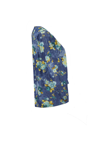 Iro denim kimono with yellow flowers *Find it at www.naaiantwerp.com #NaaiAntwerp