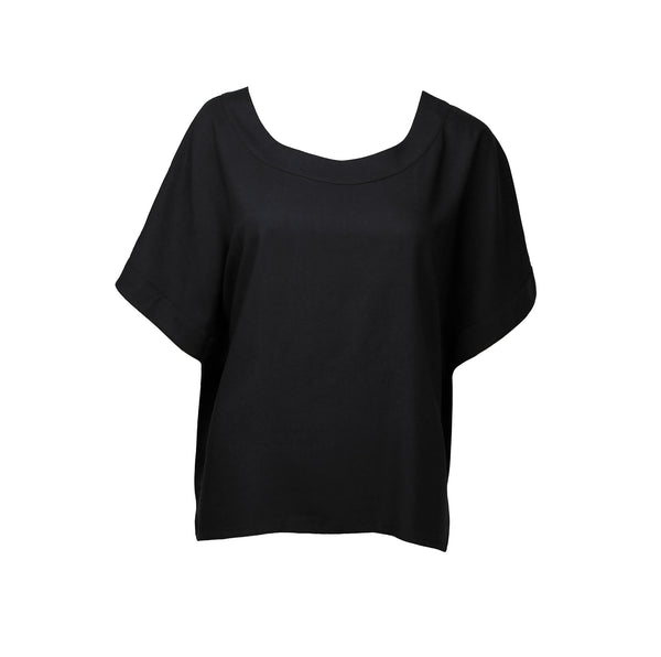 Black shirt with short sleeves