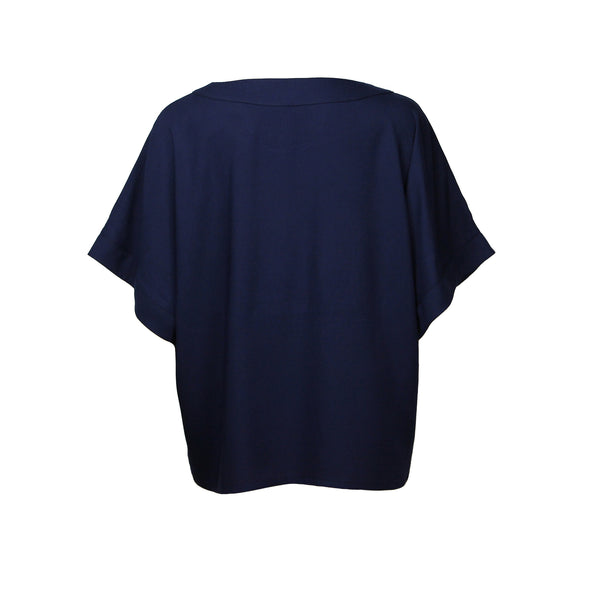 Midnight blue shirt with short sleeves