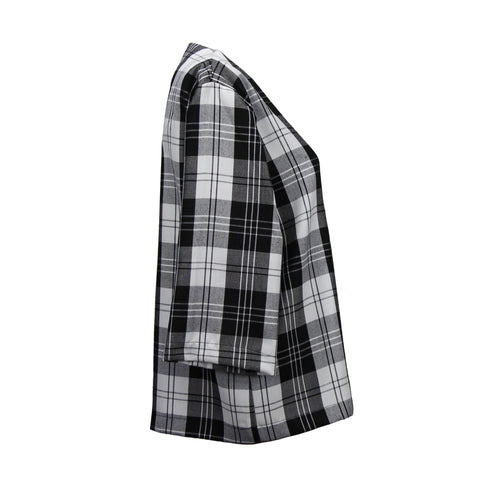 Plaid lightweight jacket with Japanese kimono sleeves