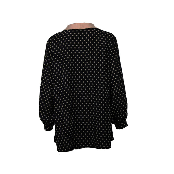 Shirt with pink dots and puffed sleeves
