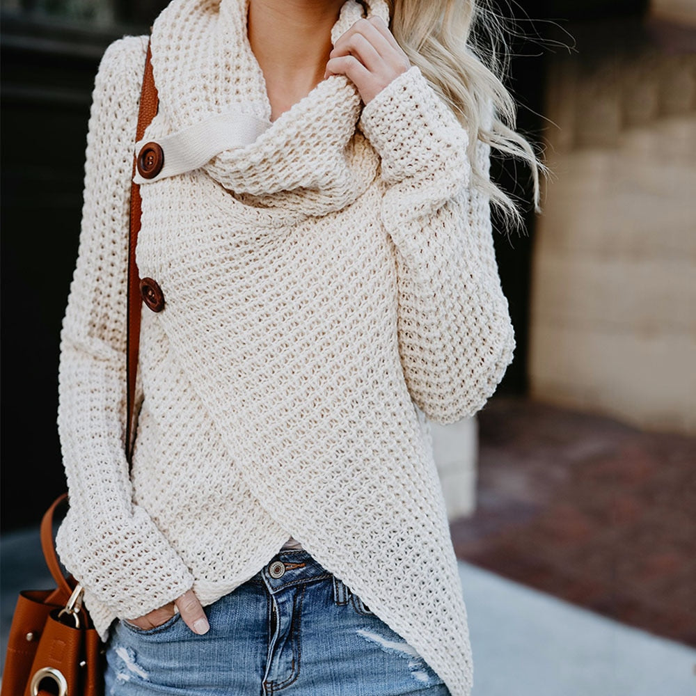 Loose buttoned sweater