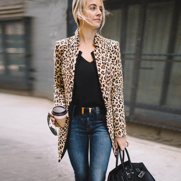 Casual leopard coat