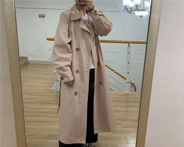 Puff sleeves trench