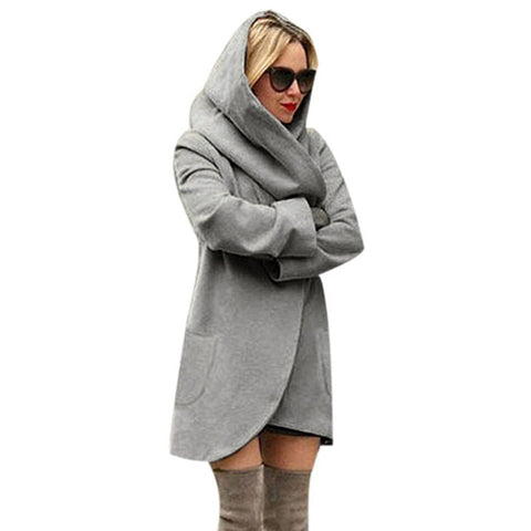 Loose Lightweight Coat with Hoodie