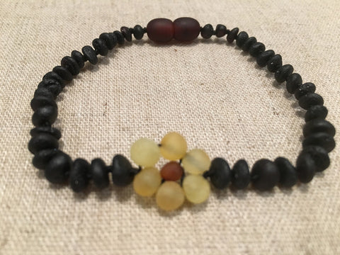 Raw Cherry Flower Amber Bracelet