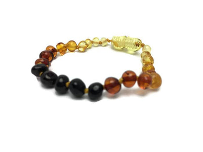 5.5 In Rainbow Baltic Amber Bracelet Baby Infant Toddler