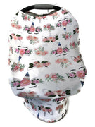 5-in-1 Multi Use Cover Infant Car Seat Shopping Cart Nursing Cover Peach Unicorn
