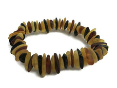 "7.5"" Raw Unpolished Large Multi Baltic Amber Bracelet Maximum Effectiveness"