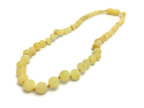 Baby Baltic Amber Necklace - Baltic Amber Teething Necklace Raw Milk Newborn Baby Infant Toddler