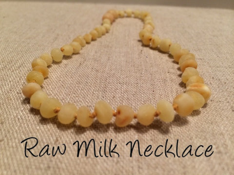 Baby Baltic Amber Necklace - Baltic Amber Teething Necklace Raw Milk Newborn Infant Toddler Fever Cold Red Cheeks Fussiness Drool