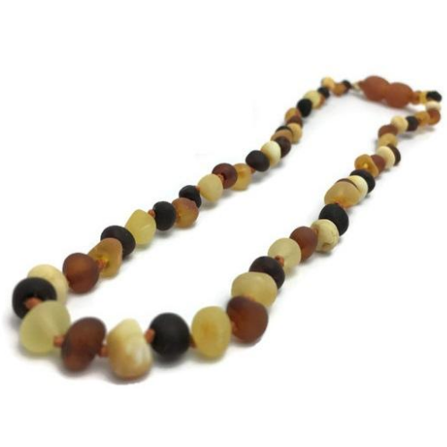 Baby Baltic Amber Necklace - Fast RELIEF For Teething Baby NATURALLY 100% Baltic Amber Teething Necklace Raw Multi
