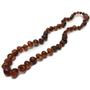 Baby Baltic Amber Necklace - Polished Cognac Baltic Amber Necklace For Baby