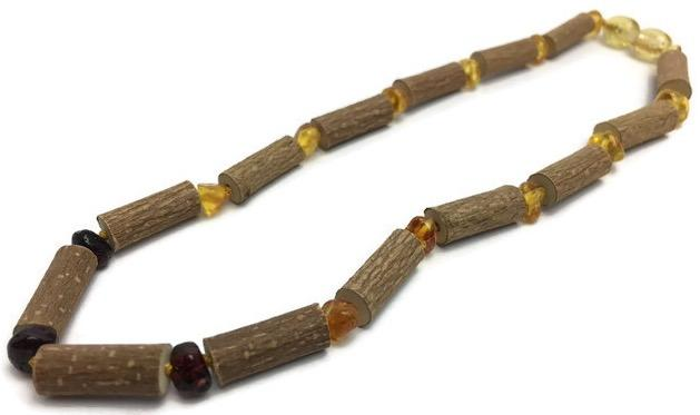 Baby Hazelwood Necklace - 11 Or 12.5 Inch Hazelwood Necklace GERD Infant Baby Toddler Baltic Amber Polished Rainbow