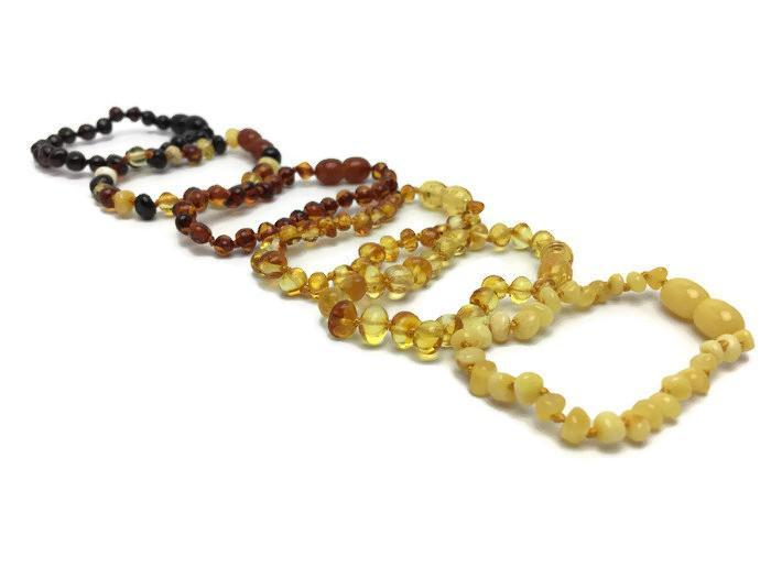 Baltic Amber Bracelet - 5.5 In Baby Amber Teething Bracelet Screw Clasp