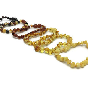 5.5 In Coordinating Discounted Baby Amber Teething Bracelet Screw Clasp