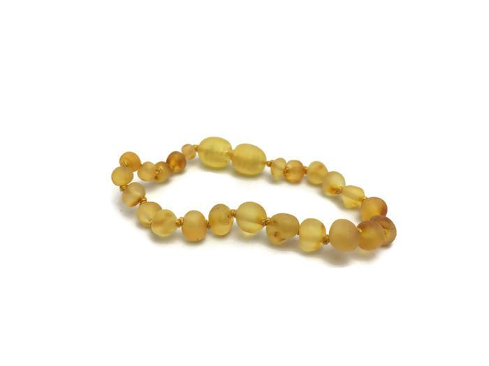 Baltic Amber Bracelet - 5.5 In Coordinating Baby Amber Teething Bracelet Screw Clasp