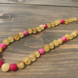 11 or 12.5 inch Baltic Amber Necklace Lemon Moonstone Focus Clarity