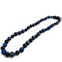 Baltic Amber Necklace - 12.5 Inch Baltic Amber Necklace Polished Black Cherry & Lapis Lazuli