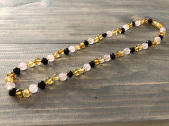 Baltic Amber Necklace - 17 19  Inch Necklace Polished Multi Pink