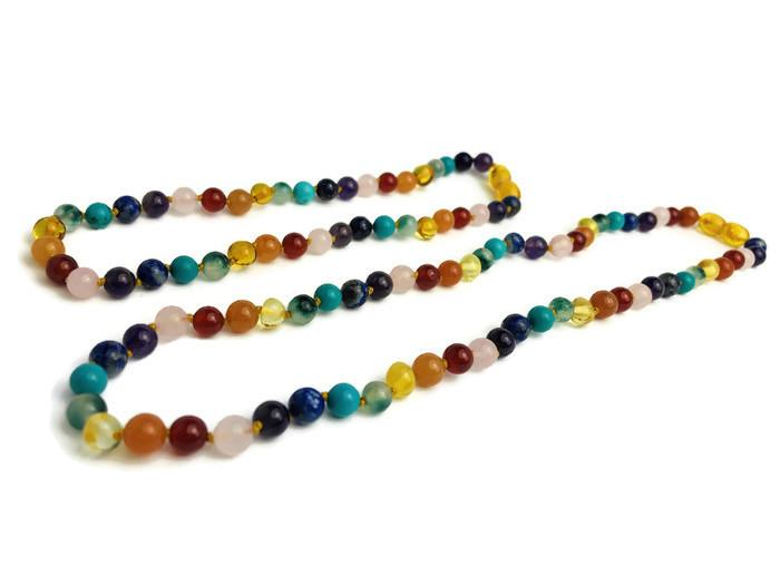 Baltic Amber Necklace - Baltic Amber 17 19 Necklace 12.5 Or 11 Inch SET Rainbow Honey Amber