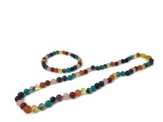 Baltic Amber Necklace - Baltic Amber Teen Adult 17 19 22 Inch Necklace Rainbow Honey Amber Semi-Precious