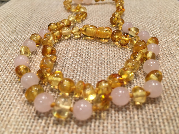FAST Relief! Baltic Amber Teething Polished Lemon Pink Rose Quartz Anxiety 1