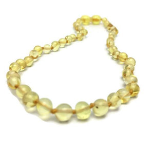 Fast RELIEF for Teething Baby NATURALLY 100% Baltic Amber Polished Lemon