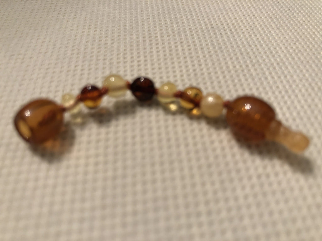 Baltic Amber - Polished Or Raw Baltic Amber Round Bean Hazelwood Extender 1.5 Inch Extended