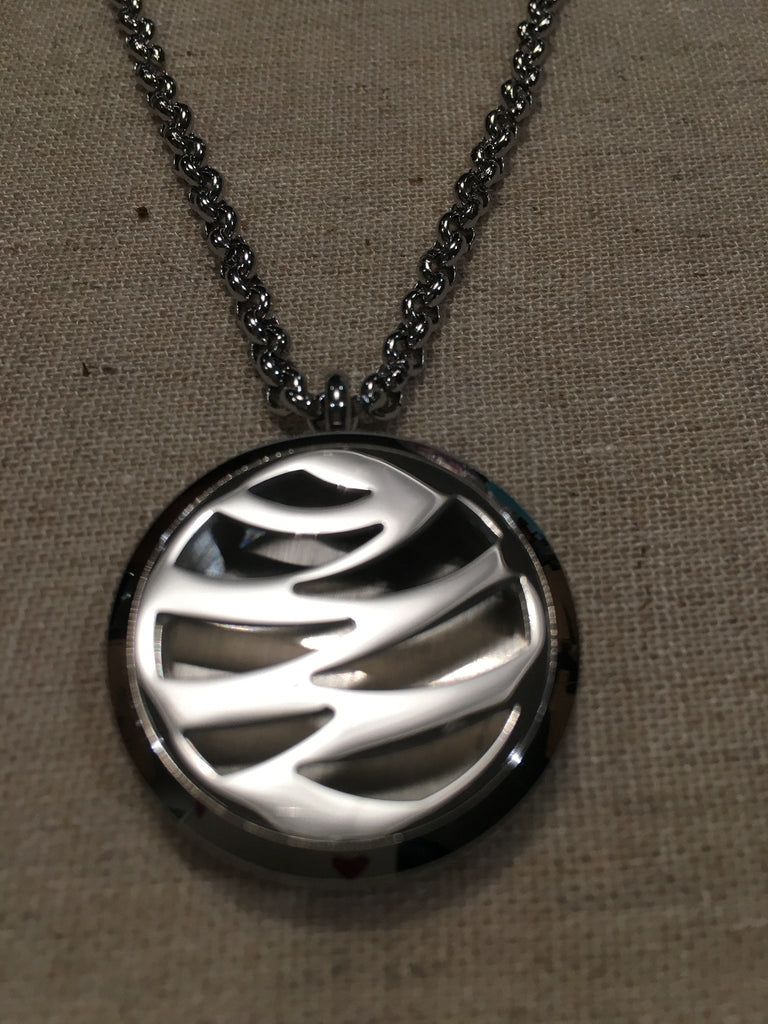 "Diffuser Necklace - Essential Oil Pendant Hypo-allergenic 316L Surgical Stainless Steel Diffuser Mama Stripped Tiger, Butterfly, Delicate, Mesh, Locket With 24"" Chain. 30mm Sized Locket"