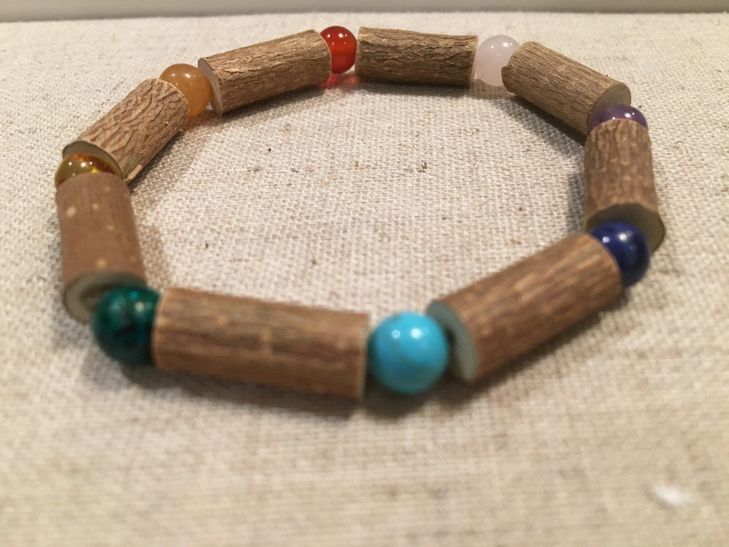 Hazelwood Bracelet - 8 - 9 Inch Hazelwood Bracelet Eczema Colic Reflux GERD Rose Quartz Green Crysocolla Blue Lapis, Purple Amethyst Or Baltic Amber Mixed For Pre-Teen, Teens, Adult
