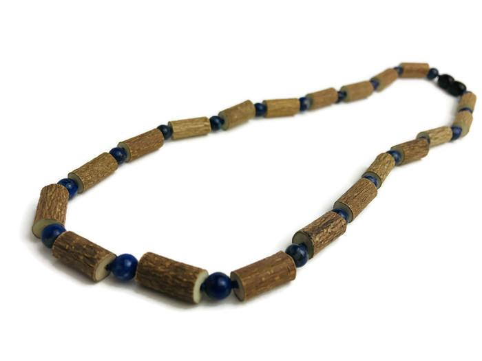 Hazelwood Necklace - ADHD Acid Reflux 16 17 19 22 Hazelwood Eczema Necklace Adult Lapis Lazuli