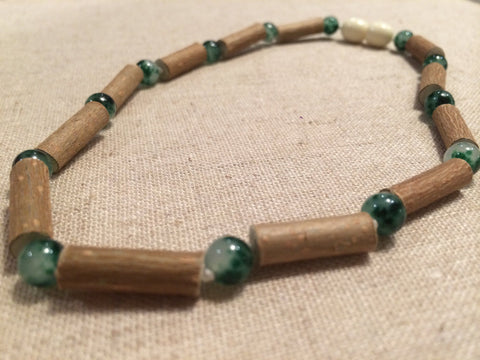 Hazelwood Necklace - Jasper 17 Inch Hazelwood (For Heart Burn, Acid Reflux, Eczema) Necklace For Adult, Teenager