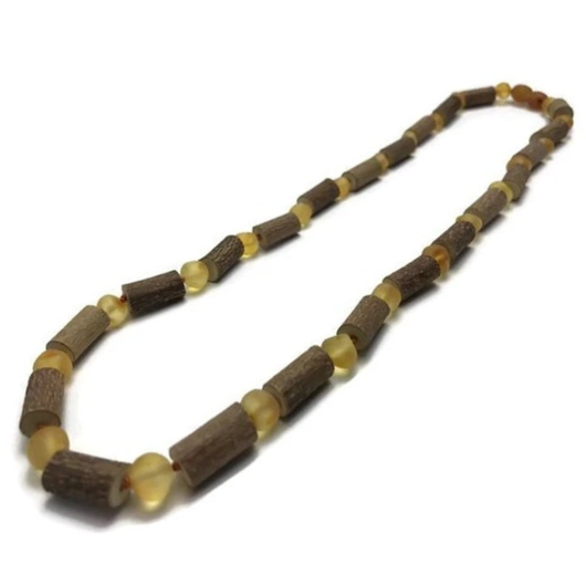 Hazelwood Necklace - Raw Honey Hazelwood 12.5 In GERD Colic Eczema Baltic Amber Necklace