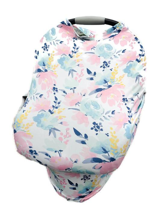 Pastel Flower 5-in-1 Multi Cover Infant Car Shopping Nursing Cover