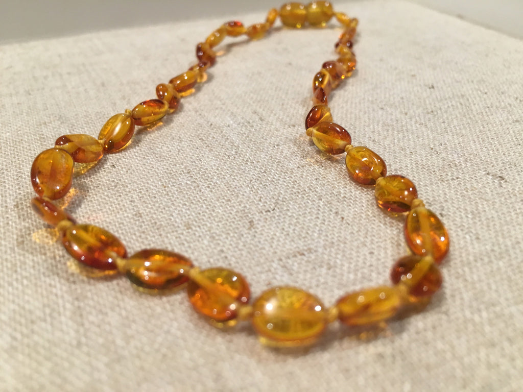 polished honey bean 11 pop baltic amber necklace teething fever colic