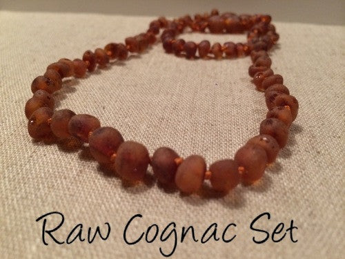 Raw Coganc SET Baltic Amber Necklace for Baby, Infant, Toddler, Big Kid. 1