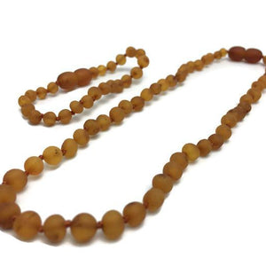Raw Coganc SET Baltic Amber Necklace for Baby, Infant, Toddler, Big Kid.
