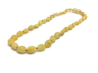 Raw Milk Bean 11 Inch POP Baltic Amber Necklace Teething Baby