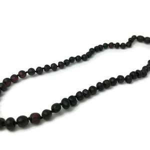 Raw or Polished Cherry Baltic Amber Necklace for Big Kid, Child, or Adult
