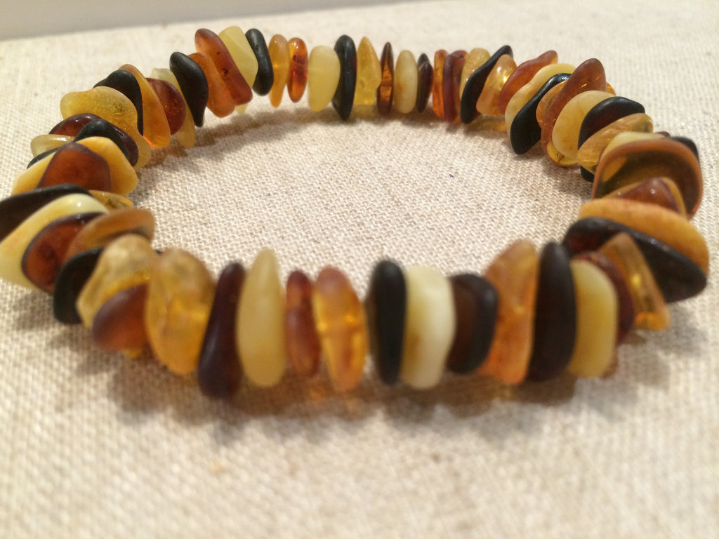 Raw Unpolished Multi Baltic Amber Bracelet For Adult All Amber For Maximum Effectiveness Arthritis Carpal Tunnel Migraines Back Aches