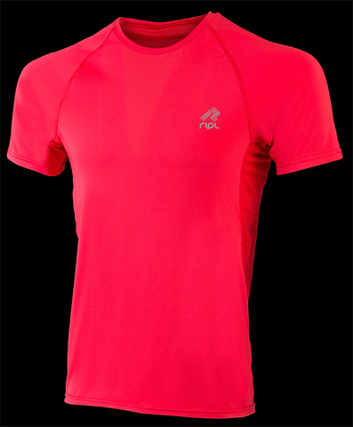 Ripl Male Inspire Running Shirt Red - Chafe Free, Breathable And Fast Wicking