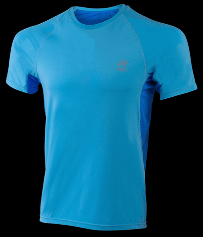 Ripl Male Inspire Running Shirt Blue - Chafe Free, Fast Wicking And Breathable