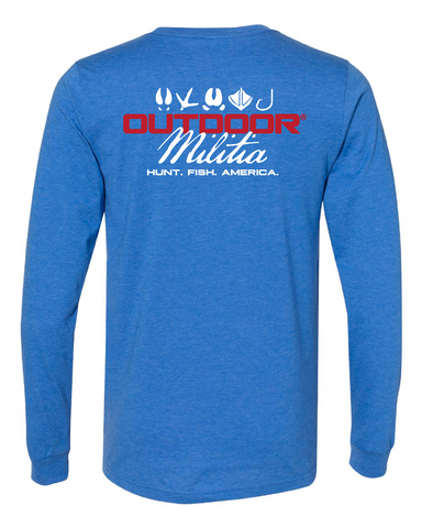 Classic Logo LS | Royal Fade - Outdoor Militia®