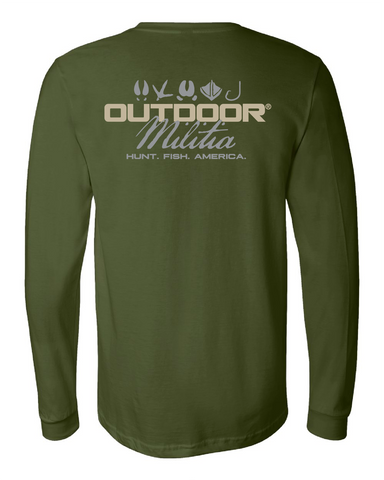 Classic Logo LS | Woods Green - Outdoor Militia®