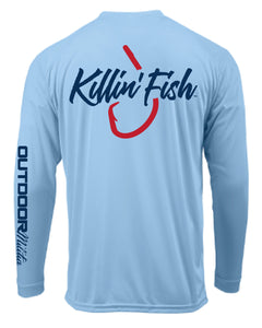 Killin' Fish™ Performance Fishing Shirt | Light Blue - Outdoor Militia®