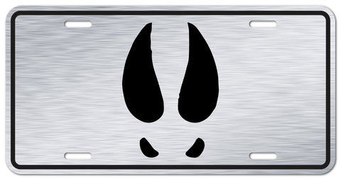 Deer Track Logo License Plate | Brushed Aluminum - Outdoor Militia®
