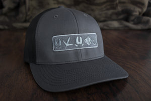 Tracks Logo™ | Charcoal / Black - Outdoor Militia®